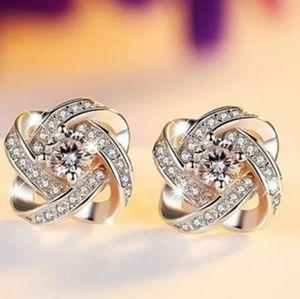 Sparkling Eternal Heart Stud Earrings